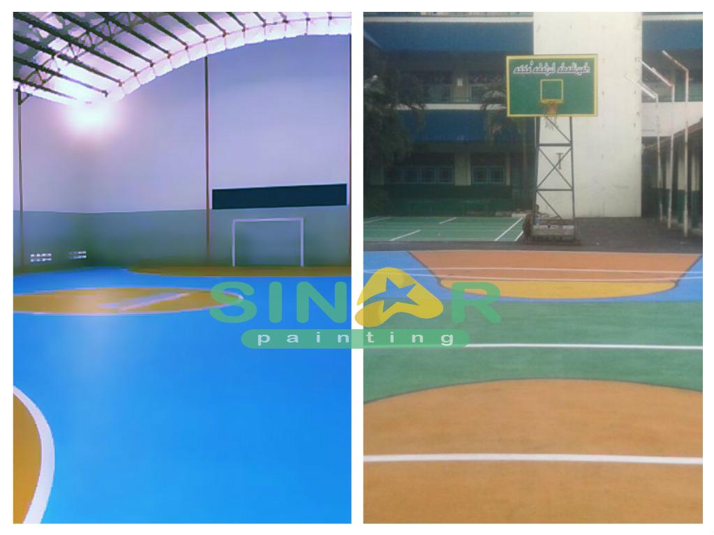 Jasa Pengecatan Lapangan Basket Media Aspal Cor Ataupun Beton