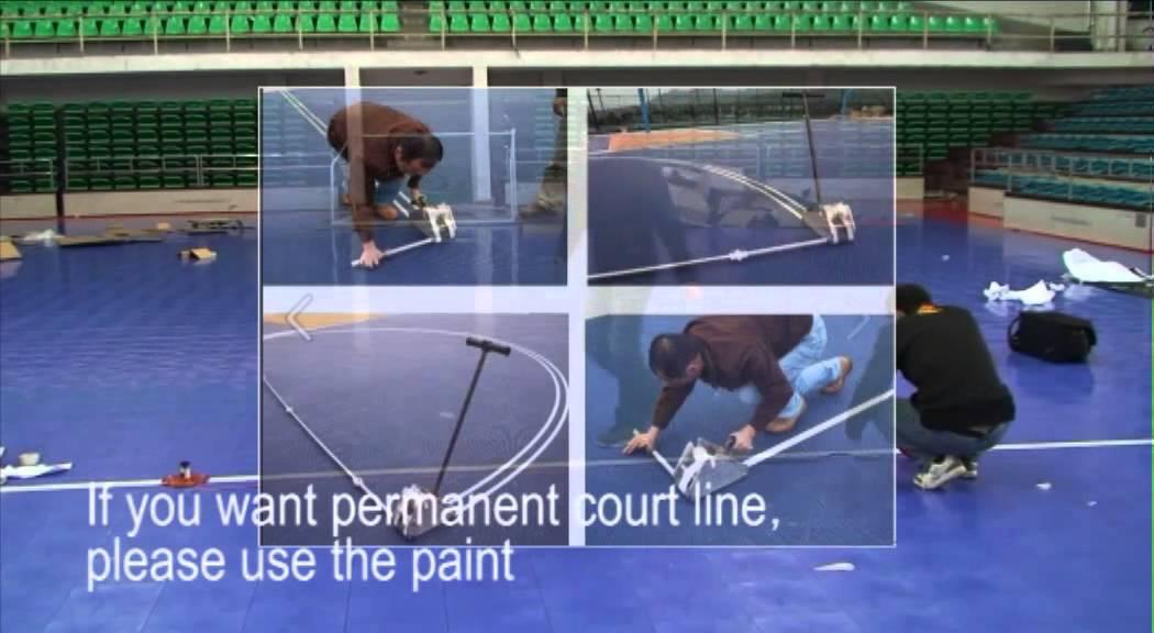 Cara membuat garis lapangan olahraga