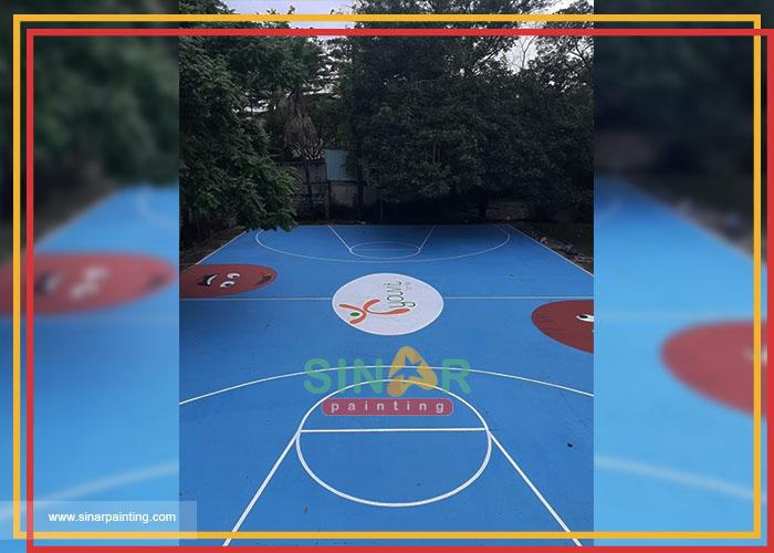 cat lapangan basket sekolah