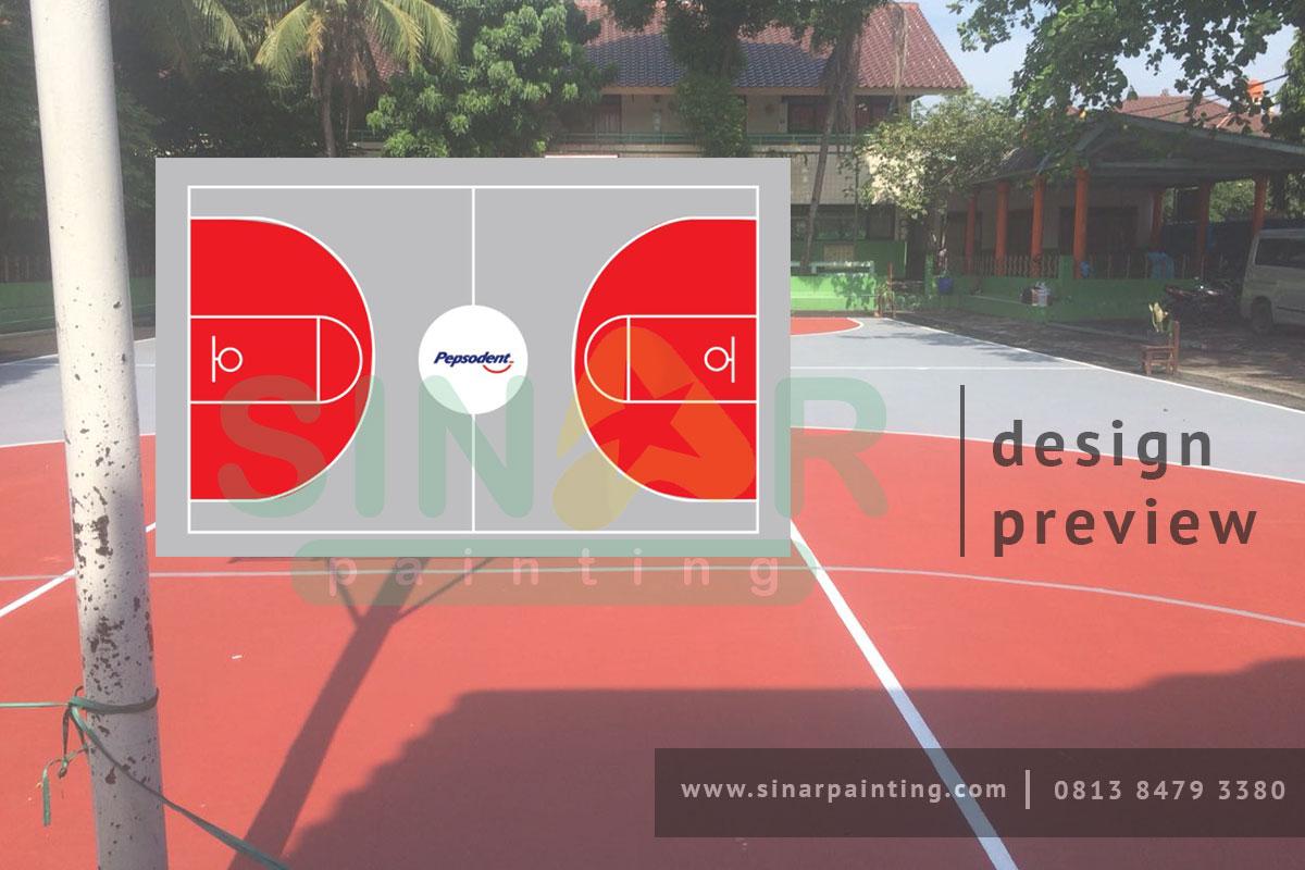 Branding Lapangan Basket Pepsodent