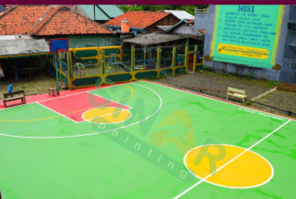 Ahli Pengecatan Lapangan Basket indoor maupun outdoor | Sinar Painting