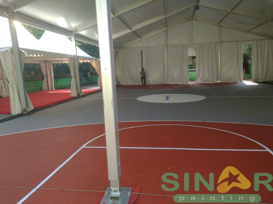 Promo Pengecatan Lapangan Badminton