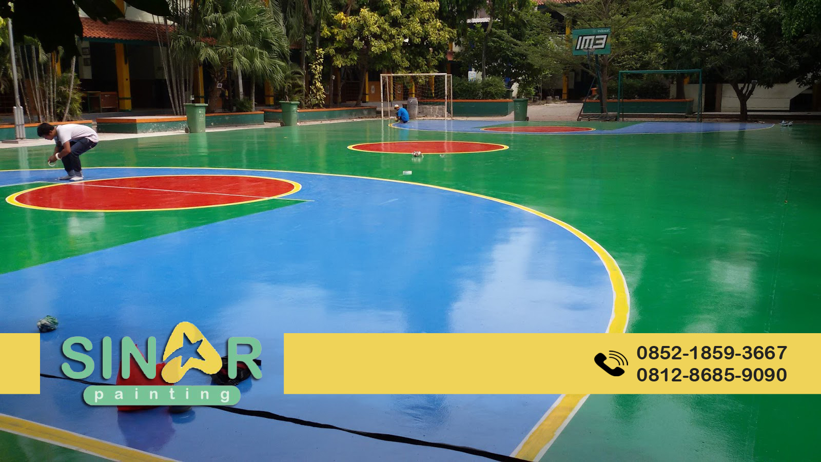 jasa pengecatan lapangan olahraga epoxy